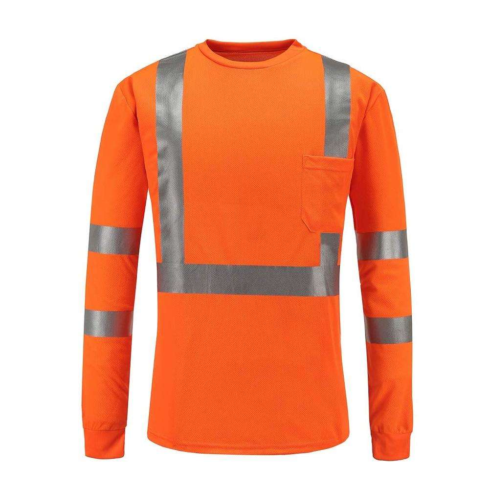 Industrial reflective men safety shirts work safety clothes oil resistant waterproof protective workwear