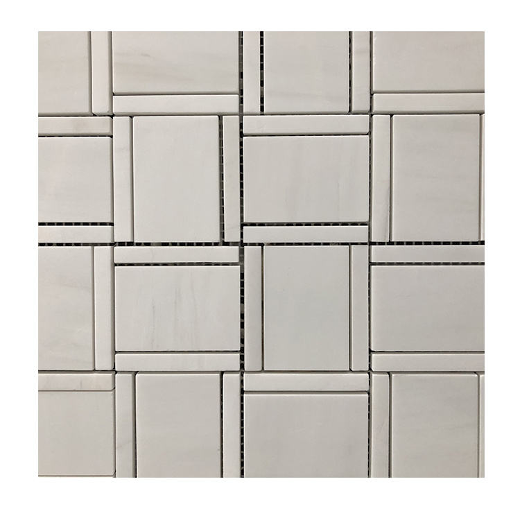 Dolomite Square Star White Marble Mosaic Kitchen Backsplash