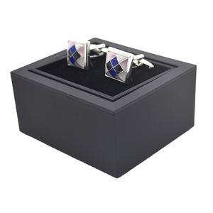 Wholesale bulk black cufflink gift packing stock box with custom logo