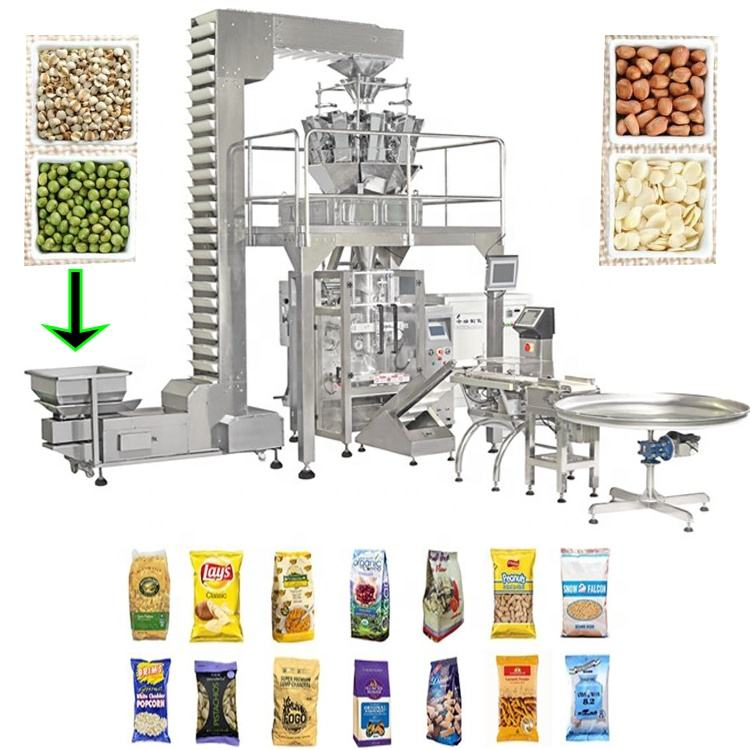 Automatic VFFS granular bean sugar rice packaging production line packing machine manufacturer factory price