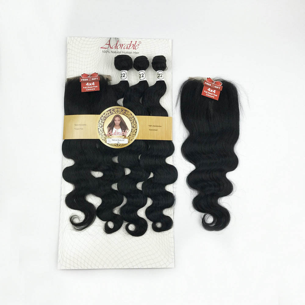 Fashion Body Wave Natural Hair Extension Blended Synthetic Hair Weaving Hair Bundles with closure