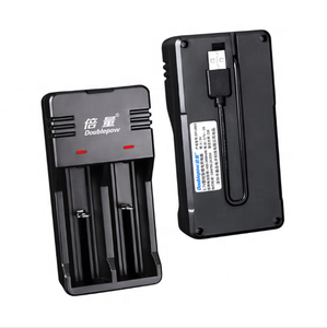 Doublepow Interfaccia USB 3.7V * 2 Caricatore Li-Ion Battery Charger 26650 16340 18650 Batteria