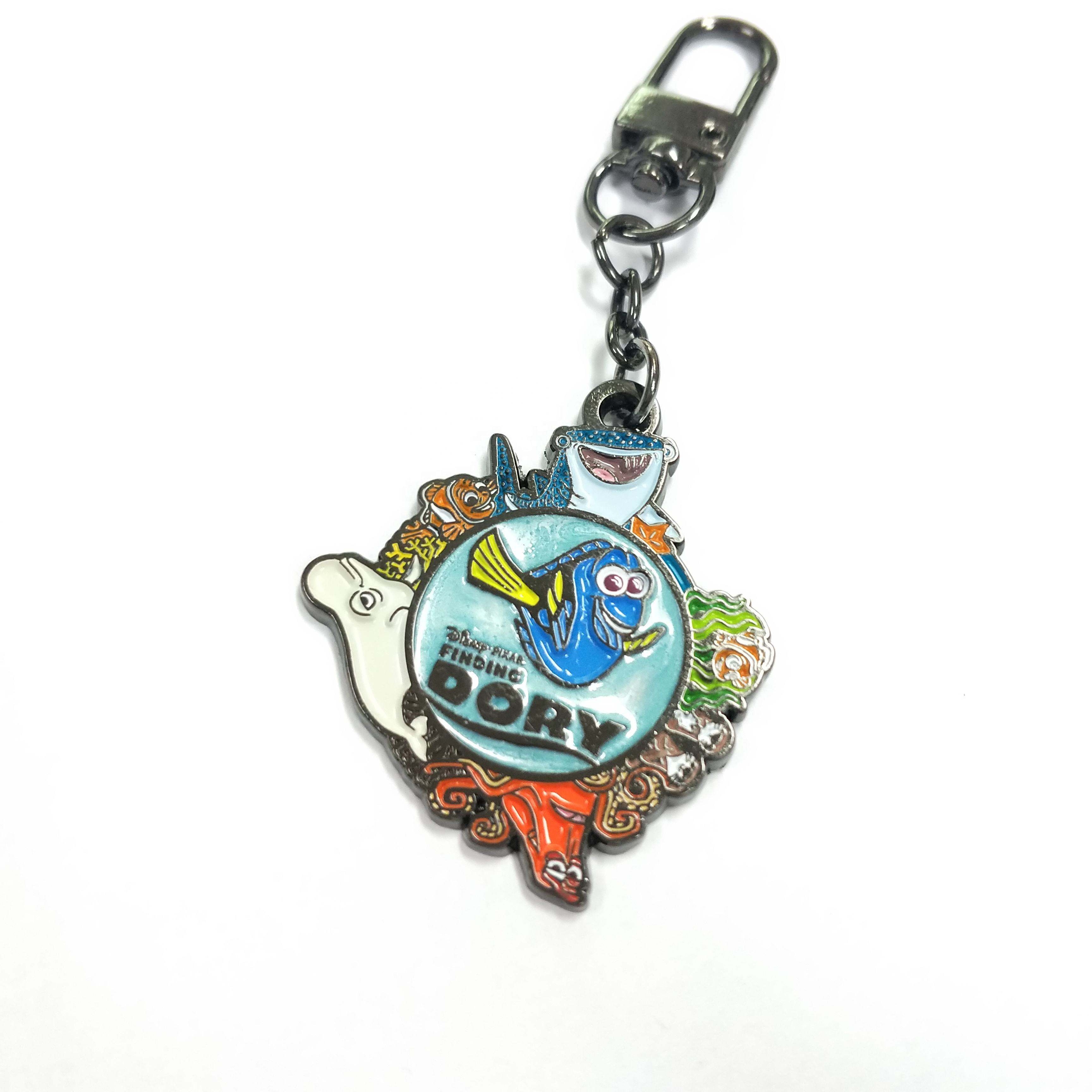 New products custom cartoon keychain manufacture keychain cute with marble effect