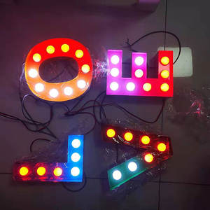 Knipperende Kleurrijke Led Marquee Letters Liefde Licht Up Letters Love Letters Alfabetten Led Party Event Decoratie