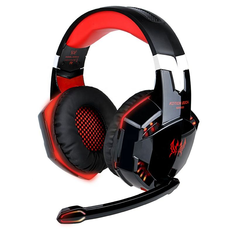 High quality Professional Gaming Headset Wired Headphone with LED and Mic