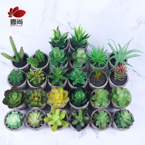 Top Sale Modern Eco-friendly Decorative Indoor Plant Home Office Decor Mini Artificial Potted Plant Artificial Succulent Plant