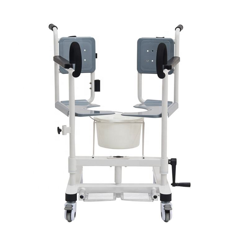 patient toilet chair transfer commode toilet chair open back wheel chair for disabled people CY-WH201