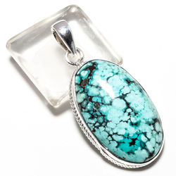 wholesale silver jewellery 925 sterling silver jewellery handmade silver natural turquoise gemstone pendant suppliers