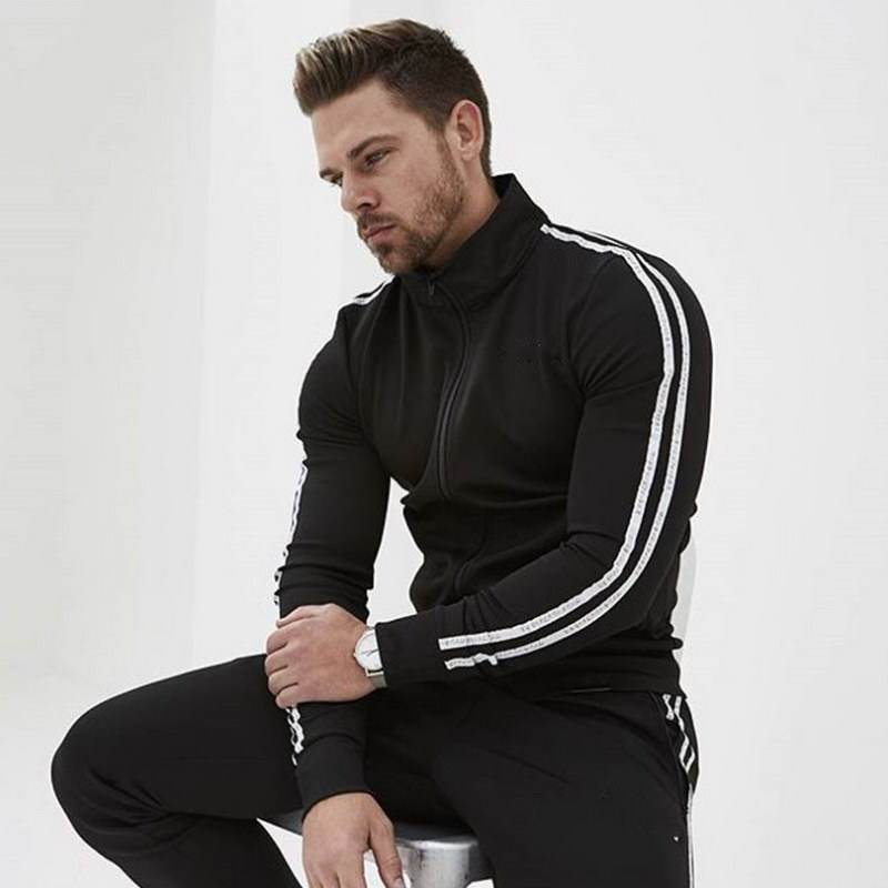 Accept OEM Fitness Sports Hooded Sweater Casual Training Gym Track Suits Custom Mens Jogging Tracksuit