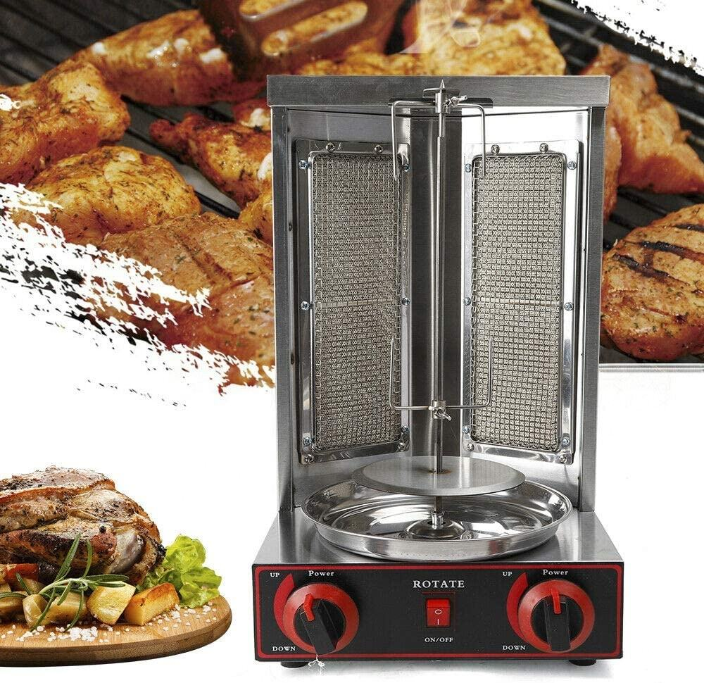 GARCE Free Shipping Automatic Rotating Doner Kebab Machine Aisan Gyro Grill Vertical Broiler Chicken Shawarma Machine