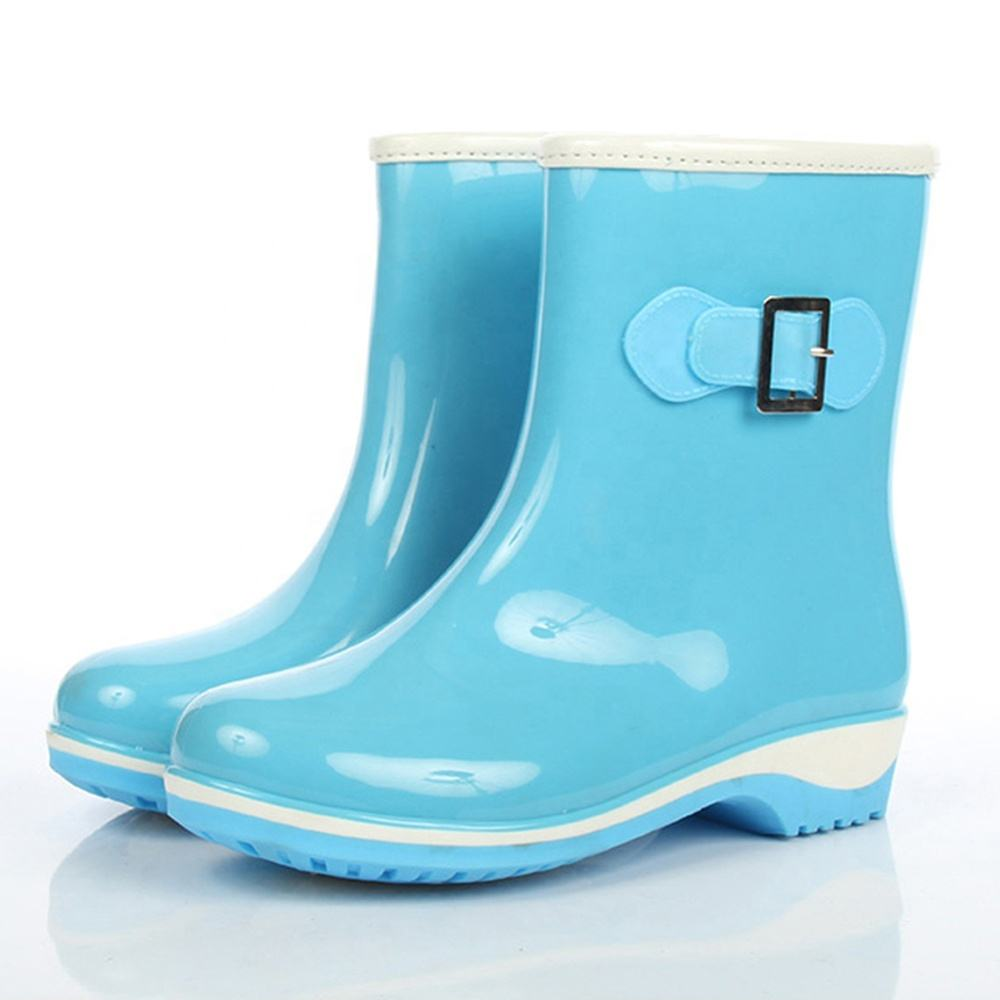 Non-Slip Working Rain Boot Fashion White Women Design Wellington Boots