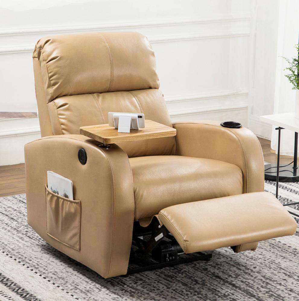 8 point heated massage function fabric indian style recliner chair