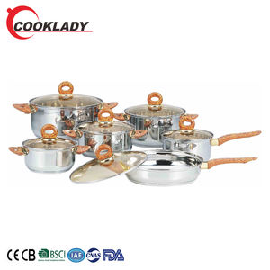 Brand New 12Pcs Sliver Non-Stick Soup Pot Tools Stainless Steel Electric Cookware Set