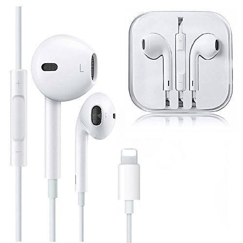 for iPhone Earphone Headphone with Mic Earbuds Stereo Headphone and Noise Isolating In Ear Wired Lightning Earphone for iPhone