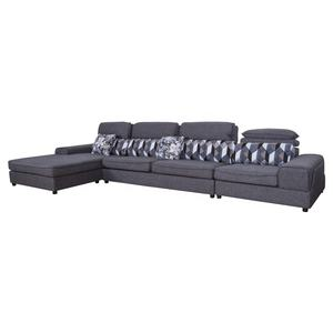 Best sales grey fabric sofa set new designs l shape corner sofa living room sofas modern with recliner