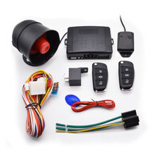 High quality one way auto chip  start stop engine button vibration remote car alarms security central lock system
