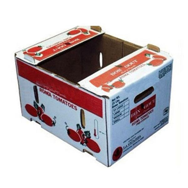 Custom eco friendly corrugated carton box Fresh cherry tomato packing boxes