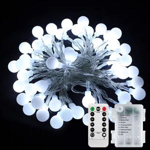 Christmas String Lights Led Outdoor Warm White Led String Light White Ball Decorative Led Lights String