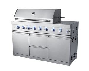 commercial stainless steel chicken spit rotisserie bbq charcoal gas stove with oven and bbq grill