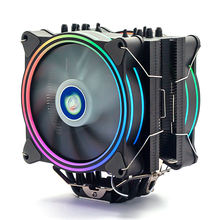 High 4pin Rgb Intel And Amd 120mm Case 6 heatpie cpu cooler with double RGB Cooling Pwm Fan