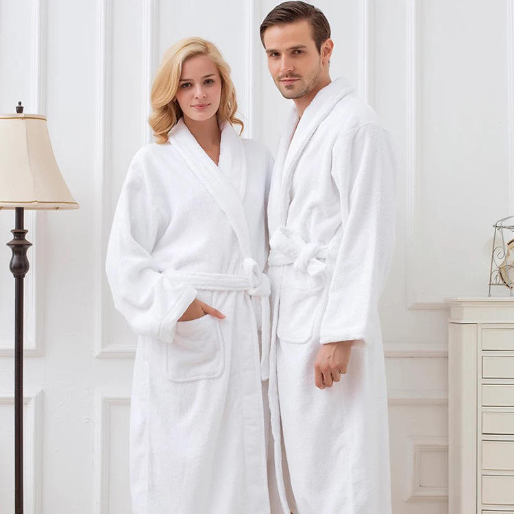 Wholesale Stock Hotel Bathrobe 5 Star Towel Terry Unisex Pakistan Bathrobe Set