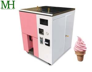Portable coin operated soft serve ice cream vending machine and frozen yogurt machine rental