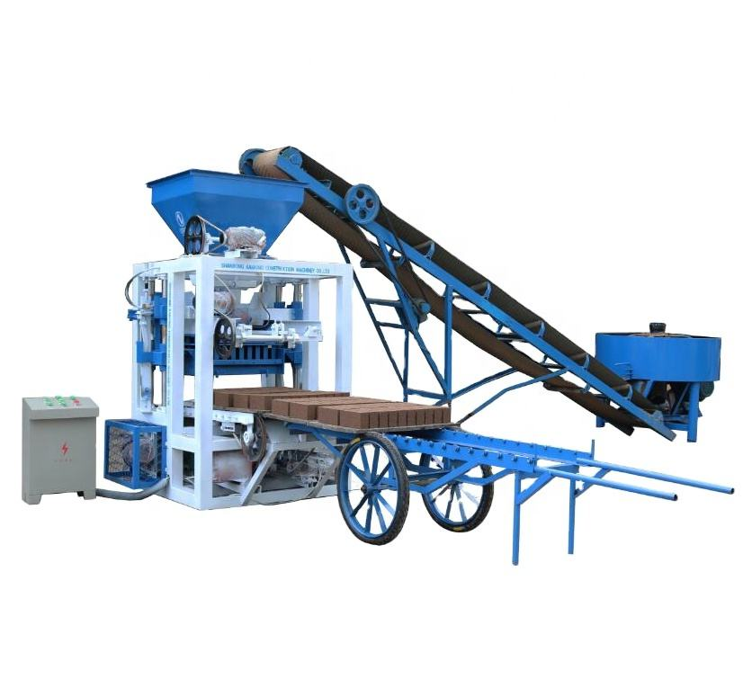 QT4-23A simple fully automatic brick making machine price in india
