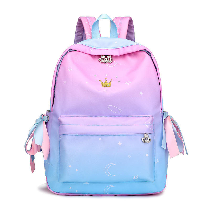 2020 Digital Printing Wholesale Custom Nylon Backpack School Bag for girls