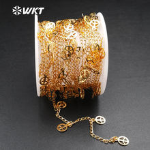 WT-BC112 Wholesale Brass Chain Fashion Real Gold Plated Link Chain Stylish Brass Chain For Jewelry Making