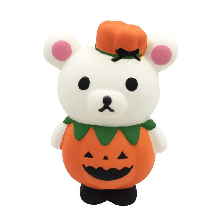 New Design Bear Pumpkin Pu Foam Squishy Toys Slow Rising Gifts For Halloween