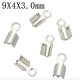 Wholesale stainless steel necklace parts jewelry chain end clips for necklace making