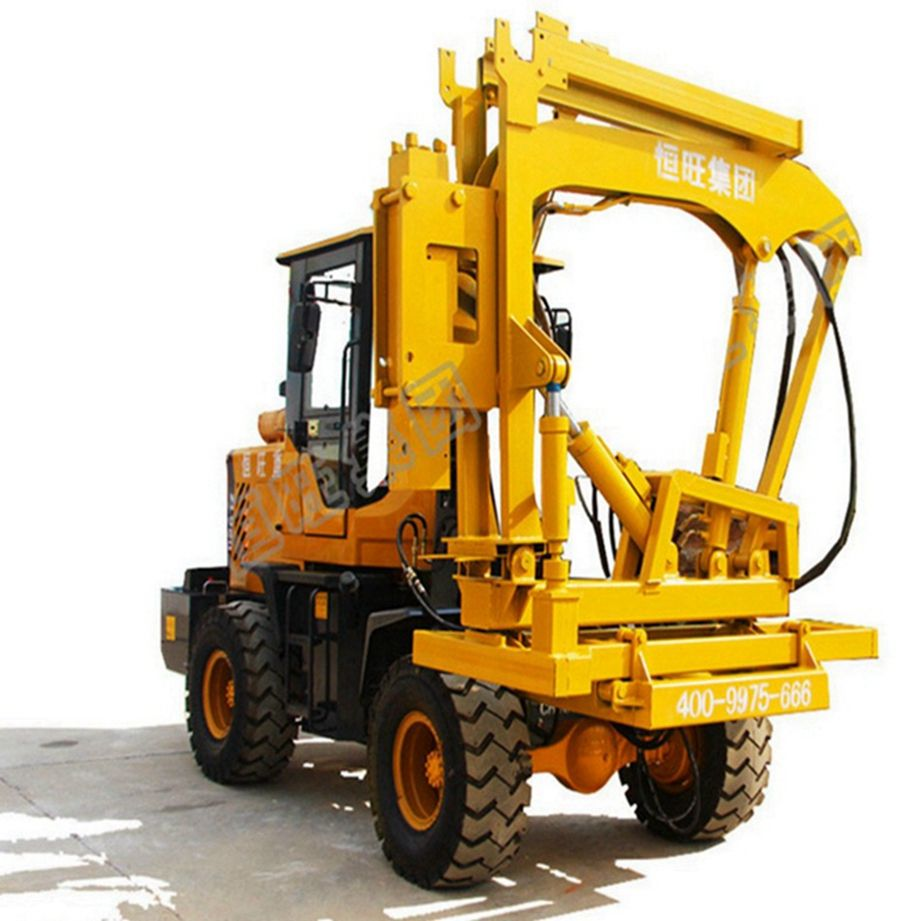 Manual transmission steel post vibratory highway guardrail Pile Driver