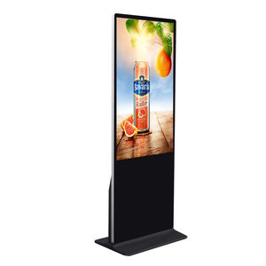 50 inch floor standing indoor touch screen kiosk advertising media display digital signage android tablet