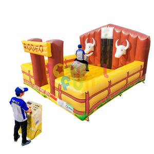 2020 Hot sale inflatable mechanical rodeo bull interactive game for amusement park mechanical bull price