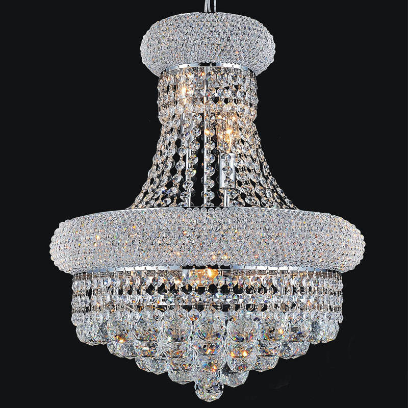 Widely Used Modern Industrial Stair Circle Hanging Led Crystal Chandelier