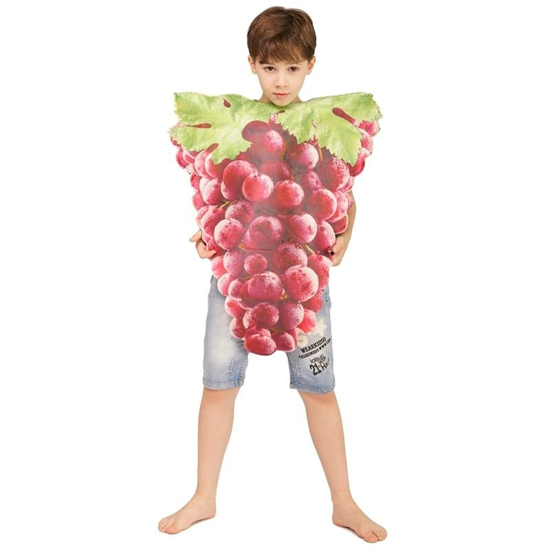New Style Kids Bunch of Grapes Jumpsuit Carnival Halloween Party Food Cosplay Bunch of Grapes Costumes