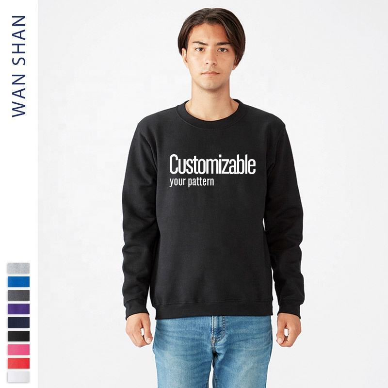 OEM custom logo mens crewneck sweatshirt manufacturer sports blank pullover plain sweatshirts