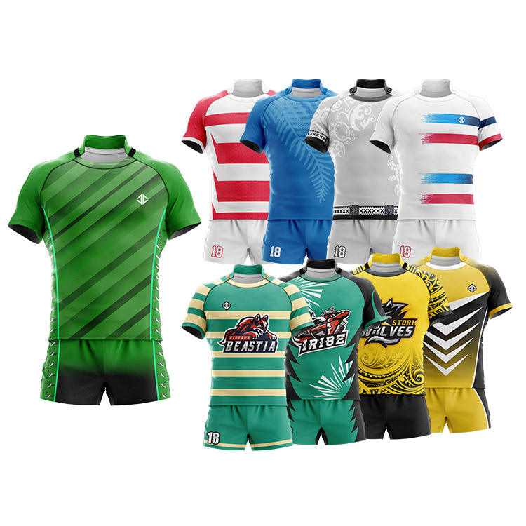 Free design custom your own rugby jersey set