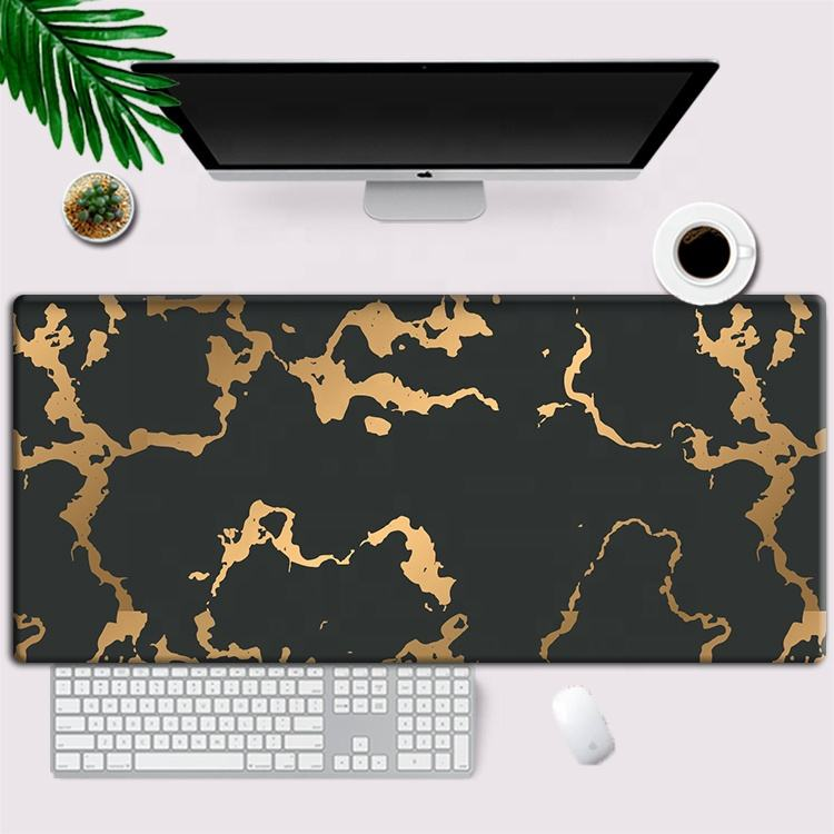 Nordic marble amazon hot style custom small fresh computer desk mat large gaming mouse pad