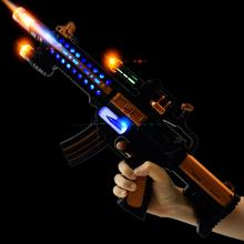 Newest Plastic Spray Painting B/O Gun flashing Light Electric Kid  Gun Toys