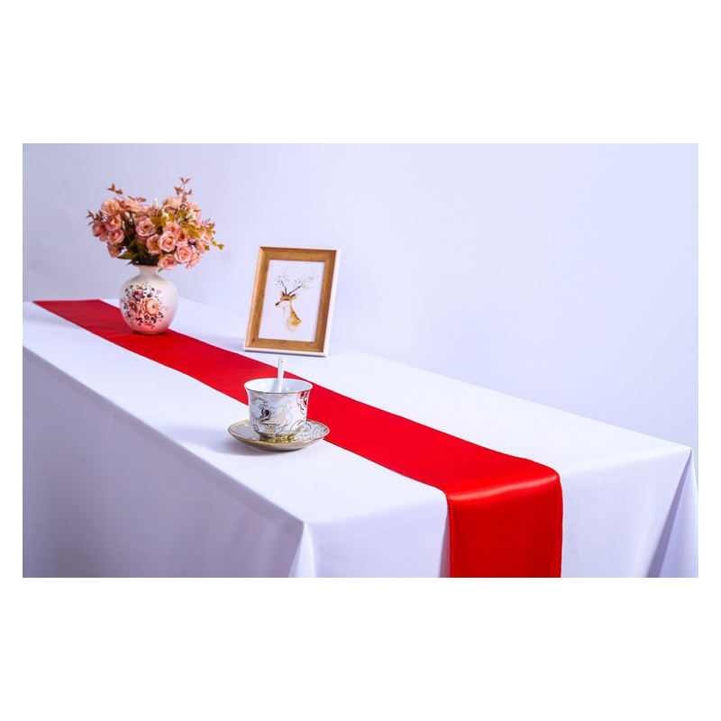 Party Decorations Satin Red Table Runner Home, Waterproof Runner For Table/