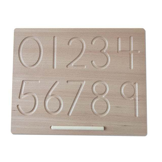 Montessori Educational Wooden Toy Gift Teaching Material Montessori Language Learning Double Sided Alphabet Wooden Tracing Board