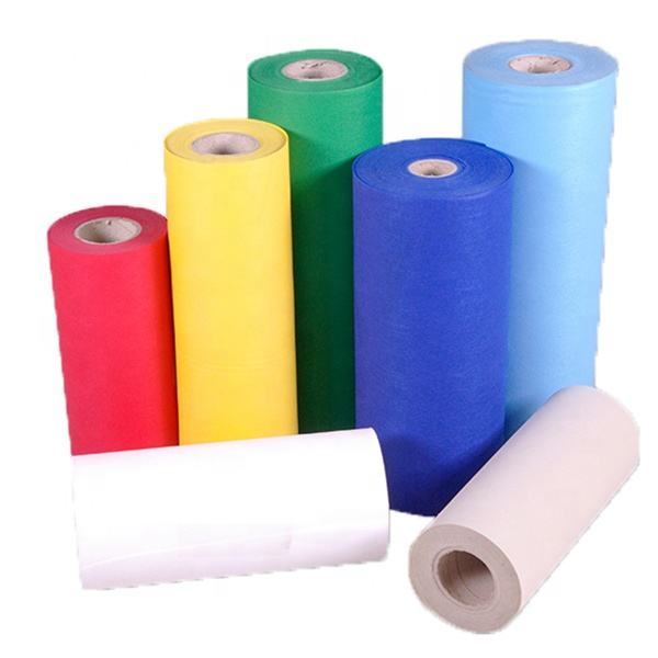 China Transparent Blue Roll OEM lamination Non-woven fabric cloth spunbond PP NON WOVEN FABRIC