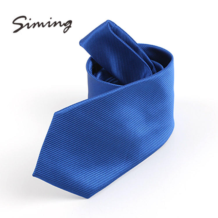 Manufacturer supplier twill design blue polyester ladies neckties solid color