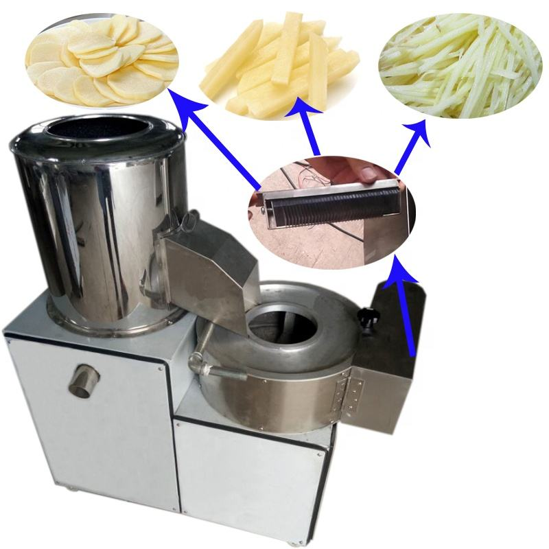 Combined Plantain Potato Washing Peeling Cutting Slicing Making Machine Price For Sale