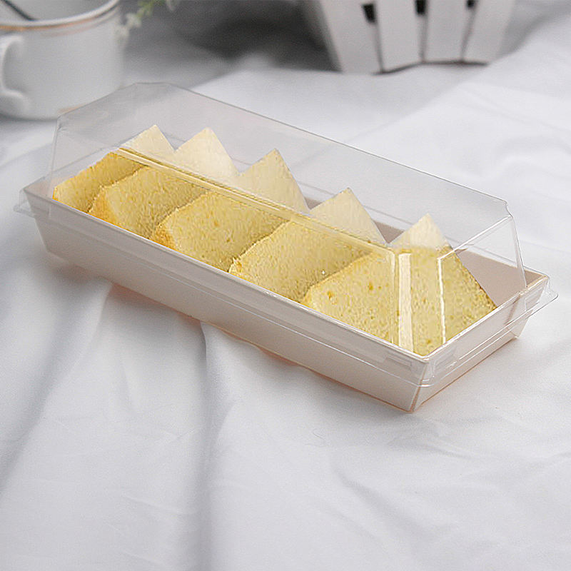 Wooden Takeaway Food Containers Cookies Biscuit Donut Macaron Chocolate Cake Canape Dessert Packaging Box