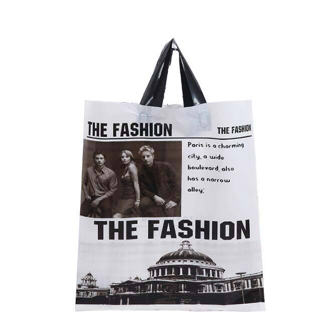 PE PP OPP String Handle Bag Plastic Shopping Bags Eco-friendly Material Die Cut Bag