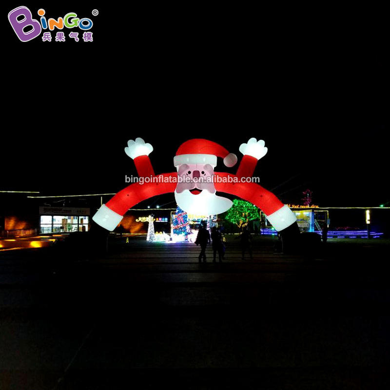 Personalized 12x7.3 meters inflatable santa claus arch for event