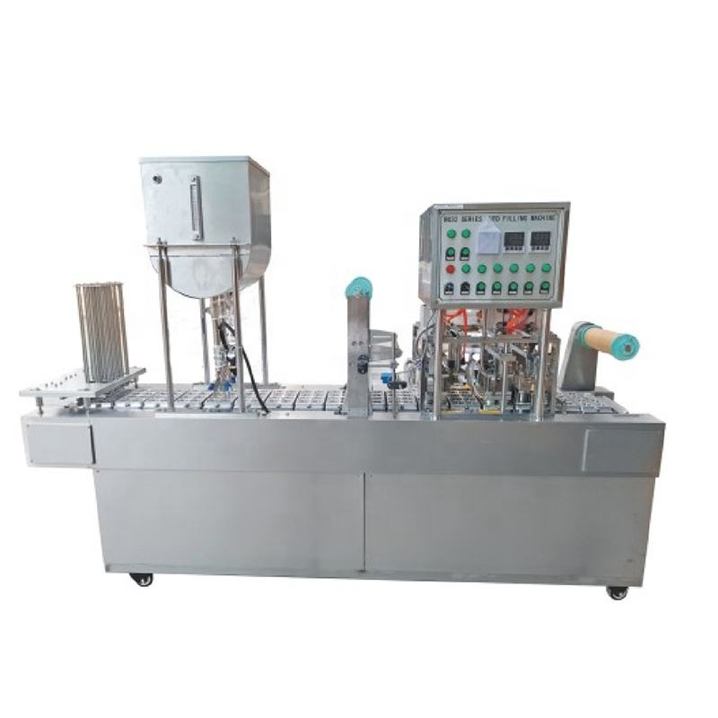 automatic liquid yogurt honey water cup filling sealing machine with capping and aluminum foil cup lid sealer