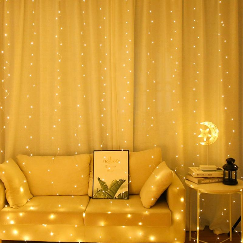 Curtain Fairy Battery Christmas Copper Wire Led String Light for Wedding Party Decorations